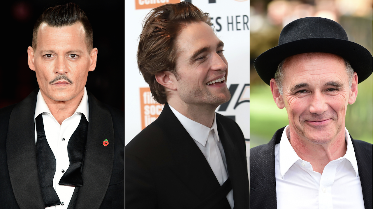 Johnny Depp Robert Pattinson Mark Rylance