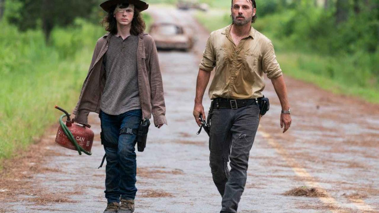 walking dead rick carl