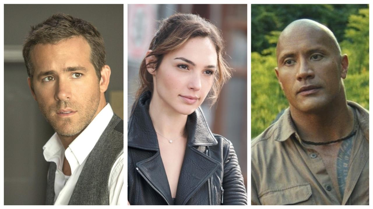ryan reynolds gal gadot et dwayne johnson dans red notice netflix