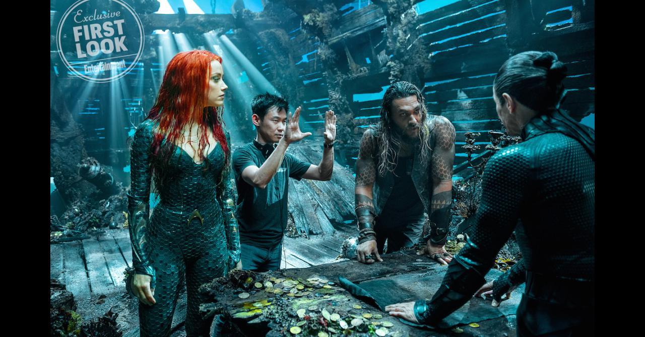 Aquaman- James Wan Amber Heard et Jason Momoa