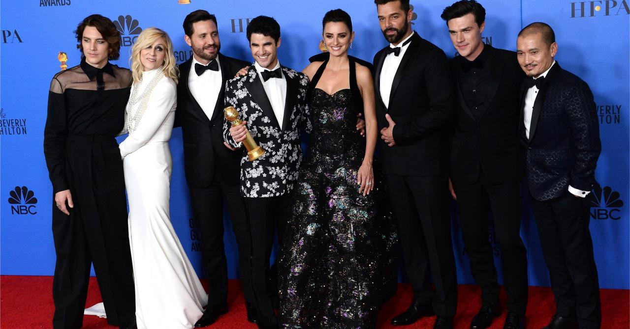 Les plus belles photos des Golden Globes 2019 : L'équipe de The Assassination of Gianni Versace: American Crime Story (meilleure mini-série)